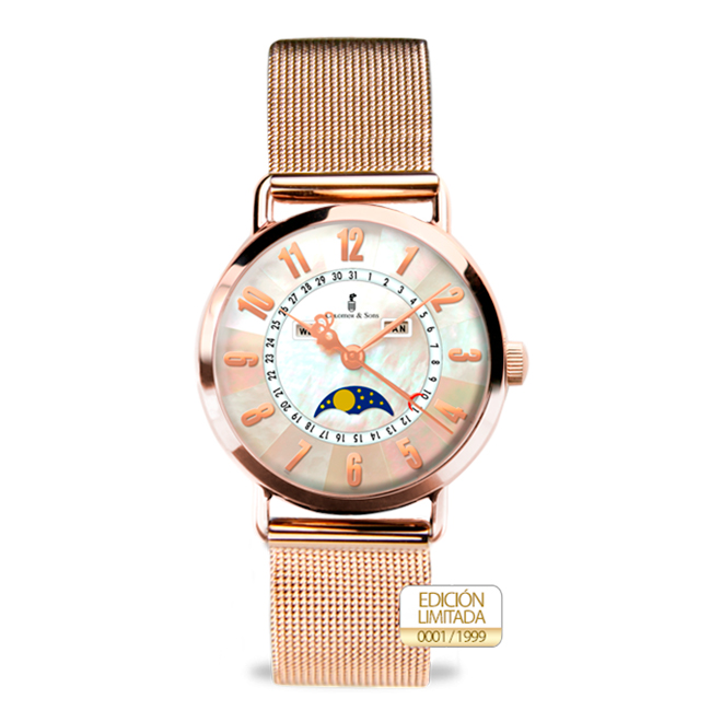 Reloj Clotilde II Rose Gold Milanesa